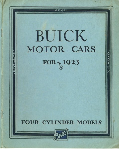buick heritage alliance archivesbuick motor cars for 1923 four cylinder models
