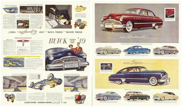 1949 BUICK ROADMASTER Car SPEC SHEET BROCHURE PHOTO BOOKLET ...
